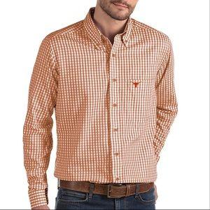 Texas Longhorns Button Down Dress Shirt Orange